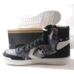 48f83a15d5e2 Converse Shoes - New Converse Fastbreak High Top Black White Python